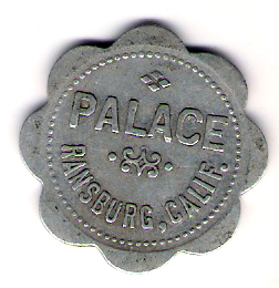 PALACE BILLIARD HALL TOKEN